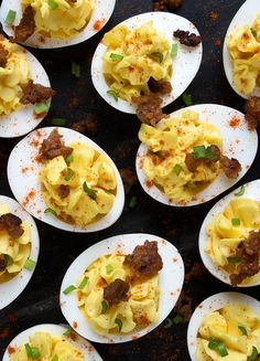 Deviled Eggs with Italian Sausage - Prove yourself as the host with the most by serving your guests our Deviled Eggs with Italian Sausage. This classic dish brings all your favourite flavours, with the drool-worthy addition of our Johnsonville Mild Italian Sausage Meat. Better to make extras with this recipe because they'll be flying off the platter!
