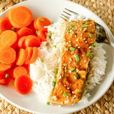 Teriyaki Salmon is the easy weeknight dinner that you have been looking for.It's full of flavor, made with only 7 ingredientsand is ready in under 30 minutes. Tender salmon is covered in a homemade teriyaki sauce and baked to perfection. Everyone will love this sweet and tangy dinner.// acedarspoon.com #salmon #seafood #teryaki #mediterraneandiet #healthy Salmon Recipes, Fish Recipes, Slow Cooker Roast Beef, Making Pulled Pork, Beet Hummus, Teriyaki Salmon, Homemade Teriyaki Sauce, Mediterranean Diet Recipes, Cooking