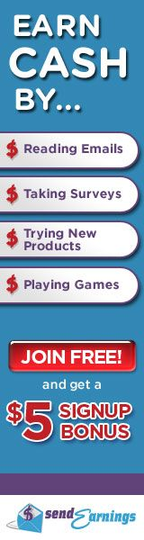 SendEarnings® - Earn Cash for E-Mail, Surveys, Games, and More! Get Your $5 Signup Bonus!