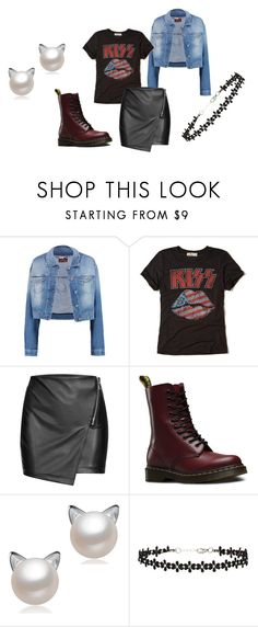"""Untitled #294"" by jupiter24 ❤ liked on Polyvore featuring 7 For All Mankind, Hollister Co., Dr. Martens and Miss Selfridge"