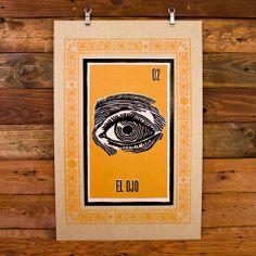 HAMMERPRESS | El Ojo Loteria Print $35