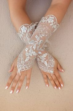 long glove elegant lace glove by Worldofgloves | Wedding glove