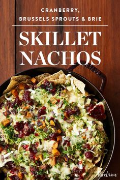 Cranberry, Brussels Sprouts and Brie Skillet Nachos via @PureWow