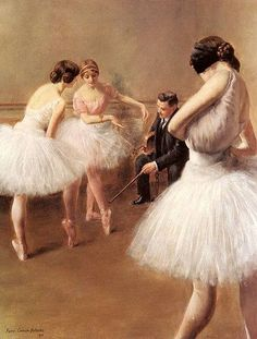Pierre Carrier-Belleuse (1851–1932) The Ballet Lesson 1914