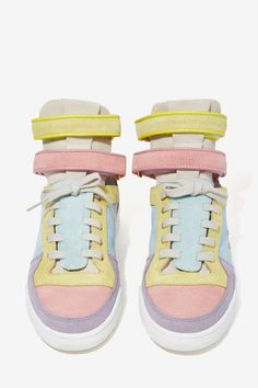 Chiara Ferragni Kimye Suede Sneaker - Pastel Multi - Shoes | High-Tops | Flats