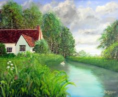 Cottage at Flatford - acrylic painting by Steve Buchanan