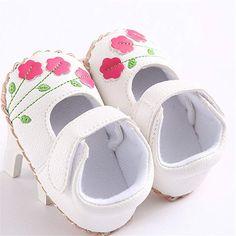 Meckior Infant Baby Girls Sandals Summer Soft Leather No-Slip Princess Shoes
