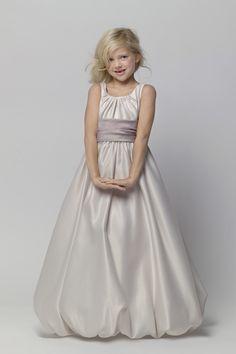 encantador Baile Alças Franzido Comprido Cetim Flower Girl Dresses [W856] - R$167.99 : Aisle Style BR