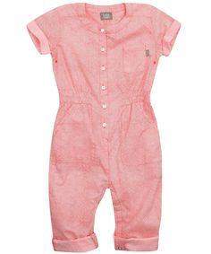 Coral Print Cotton Playsuit, Kidscase.