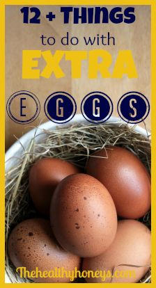 12+ Ideas of What To Do With Extra Eggs - The Healthy Honeys