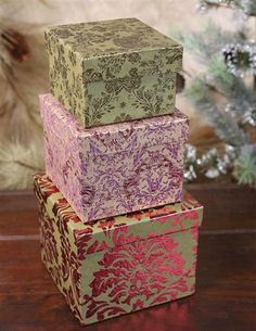 Brocade Nesting Boxes (Set Of 3) from Victorian Trading Co.