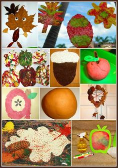 Fall art and crafts for kids - apples, pumpkins, acorns and leaves. What's your favorite part of fall?