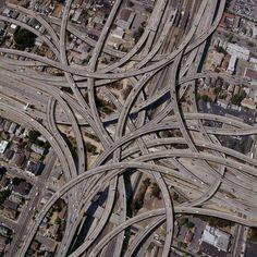 """#Ingenieria Intersección """"High Five"""" situada en la ciudad de Dallas, Estados Unidos."""