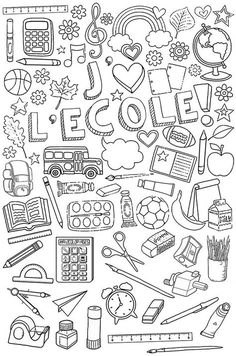 Small booklet to print for enjoyable with the syllables French Education, Art Education, French Flashcards, First Day Of School Activities, Core French, French Classroom, French School, Sketch Notes, Teaching French