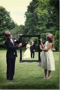 cute, with maid of honor and best man or dan's nieces and nephews?