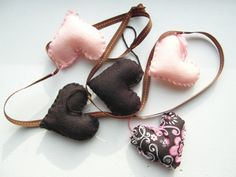 Hearts  Felt Garland by HERTrinkets on Etsy, $22.00