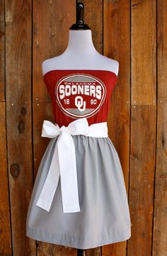 University of Oklahoma Sooners OU Strapless Game by jillbenimble, $45.00 @Tina Tice-Wunder