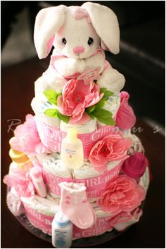 Diaper Cakes for baby shower gifts :)
