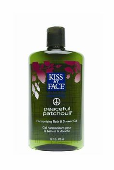 Kiss My Face Peaceful Patchouli Bath & Shower Gel, 16-Ounce Bottles (Pack of 3) by Kiss My Face. $35.03. Uplifting with Patchouli  Oil. Please read all label information on delivery. Aromatherapeutic. Contains no animal ingredients, artificial colors, or unnecessary chemicals. Not tested on animals. Using our popular Peaceful Patchouli Bath and Shower Gel demonstrates the power of the flowers and the other herbs. Lay back in a warm bath, or for a radical departure from ...