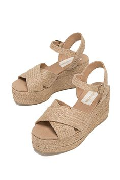 Beige plaited wedges - All Loafer Shoes, Wedge Shoes, Rope Sandals, Dressy Shoes, Girls With Glasses, Summer Shoes, Shoes Online, Girls Shoes, Fashion Shoes