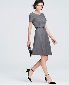 46e736f18fd1 Petite Black Dresses, Dress Black, Tartan Dress, Wool Dress, Happy Hour  Outfit