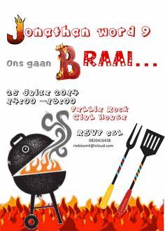 BBQ invite Boys Birthday