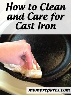 I love cast iron. How to Care for Cast Iron Cookware Dutch Oven Cooking, Dutch Oven Recipes, Cast Iron Cooking, Cooking Tips, Dutch Ovens, Skillet Cooking, Deep Cleaning Tips, Natural Cleaning Products, Cleaning Hacks
