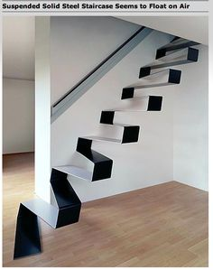 These stairs are scary .... alternating black and white steps  ..... not sure my mind could process that without causing a misstep.