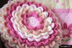 Repeat Crafter Me: Crochet Blooming Flower Pillow