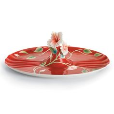 """Franz Collection Hibiscus """"Island Beauty"""" Tray"""