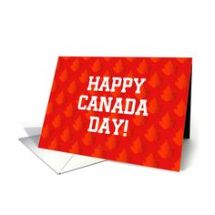 Maple Leaves On Canada Day card ($3.50) ❤ liked on Polyvore featuring home, home decor and stationery