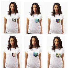 Handpainted pockets, inspiradas en el cuadro original #popart #artepop Cool T-shirt