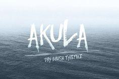 Akula- Dry Brush Font by Anna Ivanir on @creativemarket