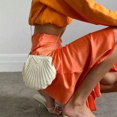 Vestidos Neon, Mini Vestidos, Blazer Color Crema, Summer Outfits, Cute Outfits, Simple Outfits, Trendy Outfits, Orange Aesthetic, Estilo Fashion