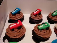 Race car cupcake toppers