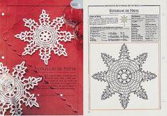 Solo esquemas y diseños de crochet: POSAVASOS COPO DE NIEVE
