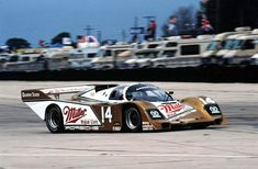 The Al Holbert, Chip Robinson Porsche 962 at Sebring in 1988. The car failed to finish due to engine problems. During these years Porsche dominated the sport and won many endurance races. SIR photo.