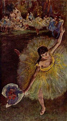 Dancer with Bouquet, Edgar Degas, 1877