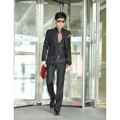 The fashion business casual 4-color pant - Suits & Tuxedo via Polyvore