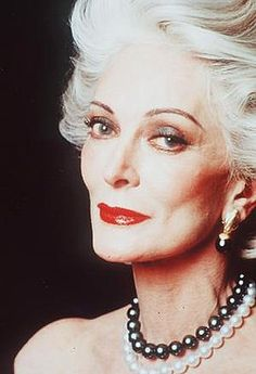 Carmen Dell'Orefice - 81 years old. Stunning. The way to age beautifully and gracefully.