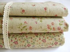 Graceful Floral -Japanese Cotton Linen Fabric http://www.etsy.com/people/DoodooShop