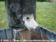 The backyard blast furnace! a.k.a. Building a mini iron melting cupola furnace.