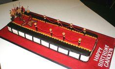 A red carpet cake