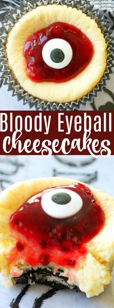 Bloody Eyeball Cheesecakes for Halloween ***delicious! Halloween Snacks, Hallowen Food, Hallowen Ideas, Halloween Eyeballs, Halloween Dinner, Halloween Potluck Ideas, Spooky Halloween, Halloween Deserts Recipes, Halloween Apps