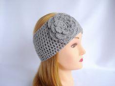 Womens crochet headband ear warmer Winter by LJaccessories on Etsy, $11.00