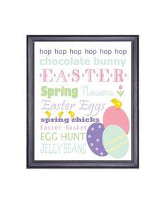 Easter Decor, Printable Art Download, Easter Eggs, Easter Saying, Spring Decor, Easter Chicks, Pastel Easter on Etsy, $5.00