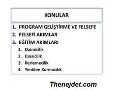 Eğitim Akımları - Thenejdet.com