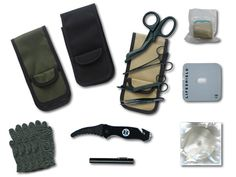 """TACMED™ QUICK RESPONSE HOLSTER SETRespond to critical tactical/medical emergencies with TACMED™ Quick Response Holster Set. Now available in black, olive drab and desert sand. The holster has a spacious main compartment, several pockets for your instruments, two side compartments and a front pouch to hold latex gloves. The response holster is made of 1000 denier nylon and has a quick release Velcro type belt loop for easy attachment to belts, gurneys, etc. It fits belts up to 2¼"""" wide and…"""