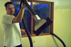 What his secret for easy popcorn ceiling removal without making a mess?