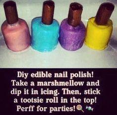 Edible nail polish